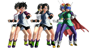 Videl from Dragon Ball XenoVerse XPS by wadamen