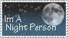 Night Person Stamp by ClearBlueSkys