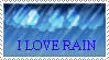 I Love Rain Stamp by ClearBlueSkys