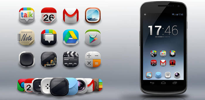 Modern Android Icons Pack- android icons by shorty91