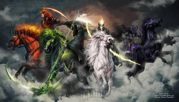 Four Horsemen of the Apocalypse by Tira-Owl