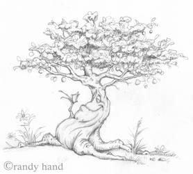 tree sculpture pre vis by RandyHand