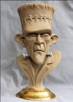 Frankenstein's Monster-bust final clay by RandyHand