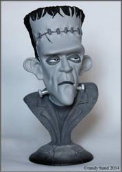 Frankenstein's Monster-bust black n white version by RandyHand