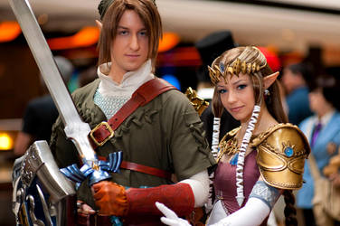 Link and Zelda Acen 2010 by Forcebewitya