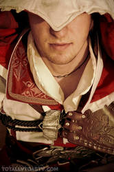 Ezio Auditore close up by Forcebewitya