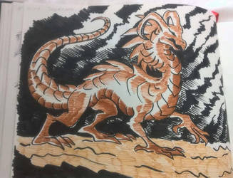 Inktober 2018 - Day 19: Scorched by SilverWolfi