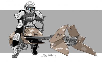 Biker Scout by Zamundiqua