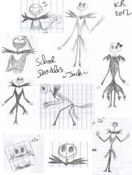 Doodles at school: Jack Skellington by KuroRyu-chan