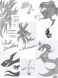 Doodles at school: shadows (and plants) by KuroRyu-chan