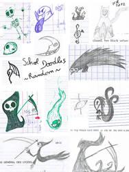 Doodles at school: random things by KuroRyu-chan