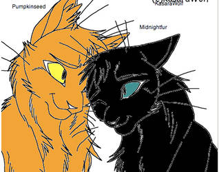 Pumpkinseed x Midnightfur by WarriorCatLuver123