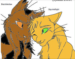 BrambleclawxSquirrelflight by WarriorCatLuver123