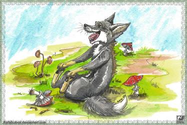 Mushroom fox by SHAKUMl