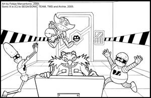Sonic X: Eggman working by yuski