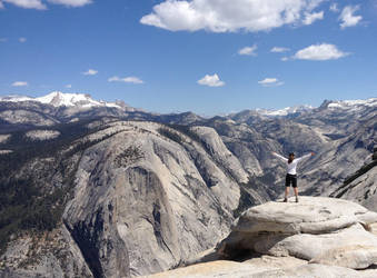 Climbing the Half Dome, CA by RockBottomMusician
