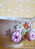 Donut Earrings by xXScarletButterflyXx
