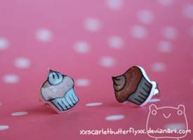 Cupcake Studs by xXScarletButterflyXx