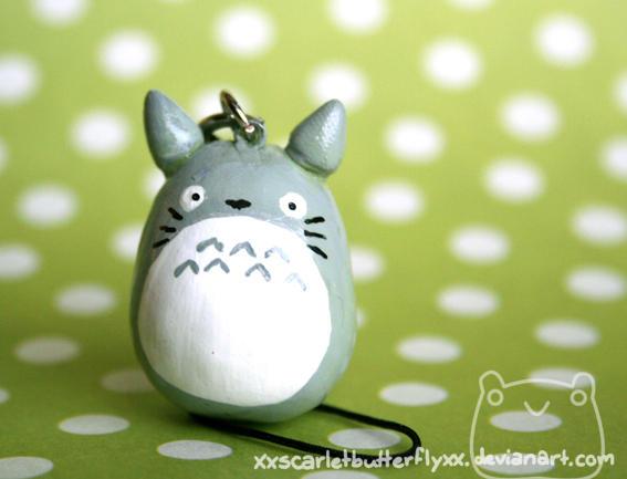 Totoro Phone Strap by xXScarletButterflyXx