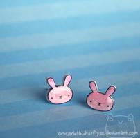 Bunny Studs by xXScarletButterflyXx