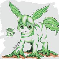 Beta Leafeon by Hatters-Workshop
