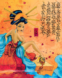 Geisha art by skidone