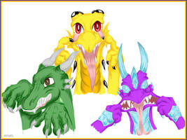 Crazy dragons by Ruchiel