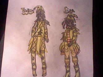 Tsukira and Sina (Hope Outfits)-Sina's Magic by RubyUmbreon