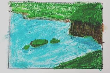 Oil Pastel Island by Plus2Renegade