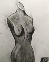 Mannequin Charcoal Drawing by Plus2Renegade