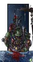 Ork Boy With Courage by LordCarmi