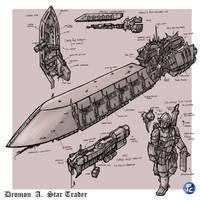 Rogue Trader: Ctesiphon cargo vessel by LordCarmi