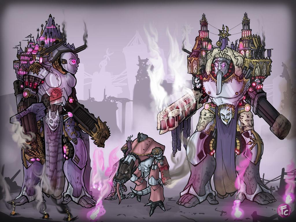 Slaanesh Traitor Titans By Lordcarmi On Deviantart