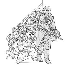 whitebane and the seven squats WIP by LordCarmi