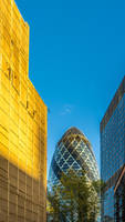 Sunlight and The Gherkin by deepgrounduk