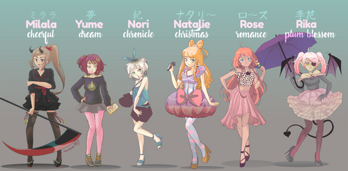 fashionistas by yume