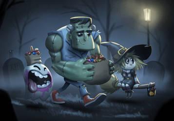Halloween posse by Henkkab