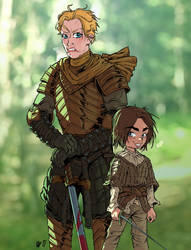Brienne of Tarth and Arya Stark by Urz-Rulez