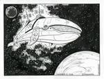 Inktober 2018 / Whale 1 by Saskunah