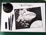 Inktober 2018 / Whale 2 by Saskunah