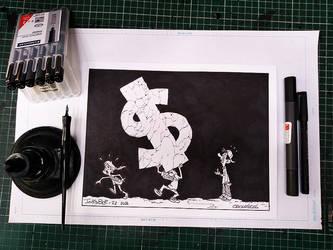 Inktober 2018 / Expensive 2 by Saskunah