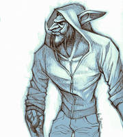 WoW: Troll Hoodie sketch by ryumo