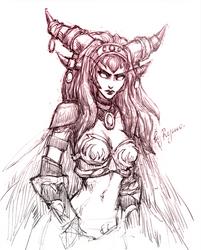 WoW: Alexstrasza sketch by ryumo