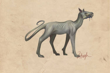 Bestiary #001: Oil Hound by LaufingIdiot