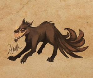Bestiary #004: Corrupt Kitsune by LaufingIdiot
