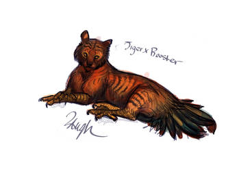 Bestiary Hybrid: Tiger Rooster by LaufingIdiot