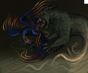 Panther and the Phoenix by LaufingIdiot