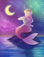 MerMay2017 Galaxy Mermaid by courtneymermaid