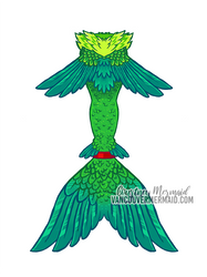 Parrot Mermaid Tail by courtneymermaid