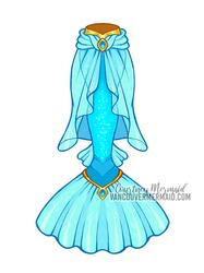 Jasmine Mermaid Tail by courtneymermaid